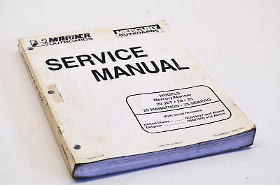 mariner 25 hp outboard service manual