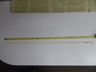 "Type S Thermocouple element, 30"" length with 3/16"" OD alumina insulator w/collar"