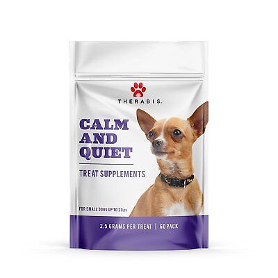 Therabis Calm and Quiet Hemp Chew Treat Supplements for Dogs- 60 treats -calming