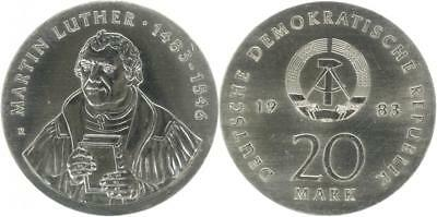 DDR 20 Mark 1983 (A) - Martin Luther - Jaeger 1591 - f.Stgl.