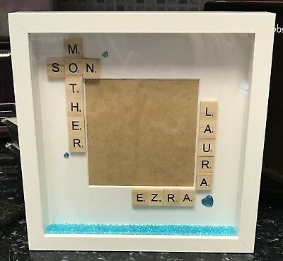 Handmade Personalised Mother Mummy Mum Son Photo Frame Mothers Day