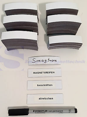 200 Magnetic Stripes Writable Refrigerator Magnet Shelves Signs Magnet Foil