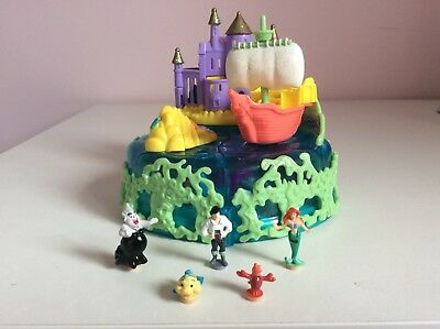 Vintage Polly Pocket 1996 Disney Ariel Undersea Kingdom 100% Complete VGC RARE