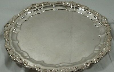 Vintage Epca Old English Silverplate By Poole 5930 Footed Serving Tray