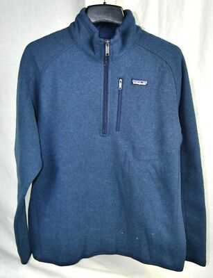 Patagonia BETTER SWEATER 1/4 Zip Fleece Jacket AUTHENTIC 25522 Mens NAVY New