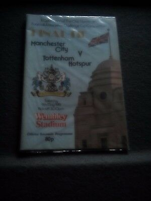 Man City v Tottenham 1981 Fa Cup final. Excellent condition.