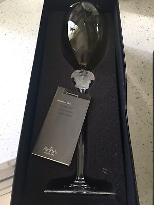Versace Medusa Yellow Crystal Wine Glass By Rosenthal