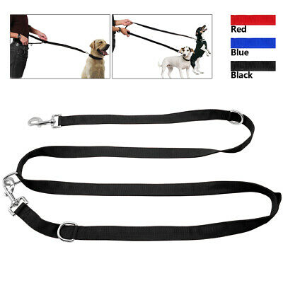 Police Style Dog Training Lead Double Ended Dog Leash Multi-Funtional 2M/6.6ft