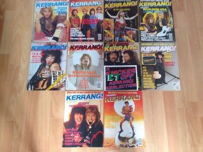 Kerrang Early Issues Bundle Collections X 10 Issues # 109 To 118