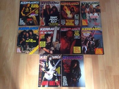 Kerrang Early Issues Bundle Collections X 10 Issues # 185 To 194