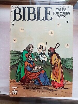 Bible Tales For Young Folk #1 August 1953 Jesus Christ Atlas Marvel Rare Comic