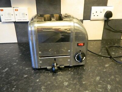dualit 2 slice toaster with stainless steel and chrome  finish