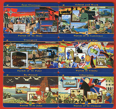 Jersey Liberations set of 12 mint £2 cards 1995 JER 104-115.