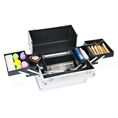 Hotrose Extra Large Space Storage Beauty Box Make up, Jewelry Cosmetic Silver