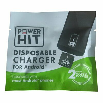 Mobile Phone Charger Power Hit Emergency Single Use Disposable Android Charger