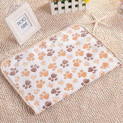 Removable Soft Puppy Dog Cat Pet Bed Cushion Blanket Mat Bask White 60 x 40cm AT