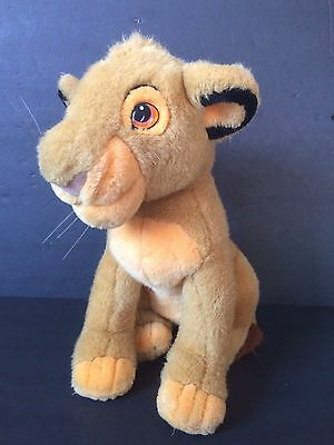 "Disney Store 13"" LION KING YOUNG SIMBA Plush Stuffed Lion Animal Toy"