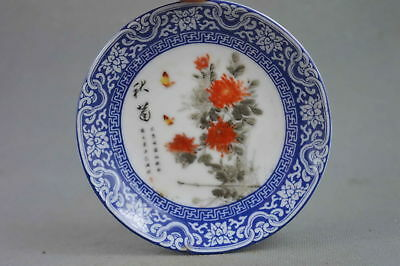 Exquisite Collectable Decorative Porcelain Paint Flower Royal Auspicious Plates