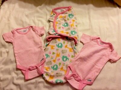 **PRICE REDUCED** Baby girl clothes 0-3 & 3-6  months Lot of 4  ADORABLE!!!