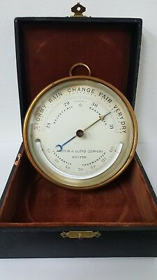 Barometer Altimeter Andrew J. Lloyd Co Boston Compensated