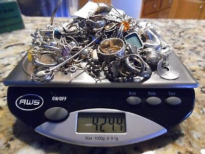STERLING SILVER 925 JEWELRY LOT 400+ GRAMS  ALL Wearable not scrap Vintage Now