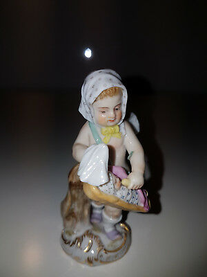Meissen Figure Of Angel With Child