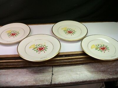 4 Lenox 2011 Annual Holiday Accent Collector Plates w/ Horn NEW - 2ND QUALITY