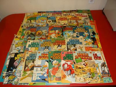 Vintage 1950's-1990's Walt Disney Comic Books Uncle Scrooge LOT OF 74 SA2910