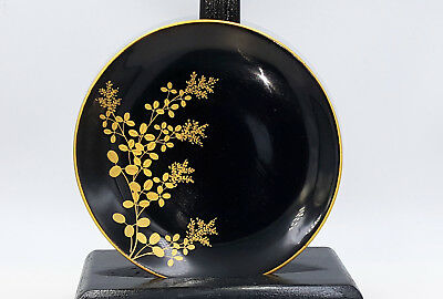 Antique Japanese Wooden Lacquer and gold plate