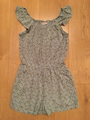 Next Floral Green Playsuit, Age 10 Years