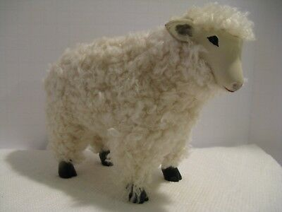 Vintage Wooden Wooly Sheep