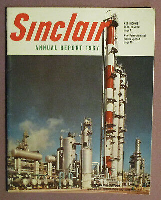 Vintage 1967 Sinclair Gasoline Gas & Oil Advertising Dealer Annual Report