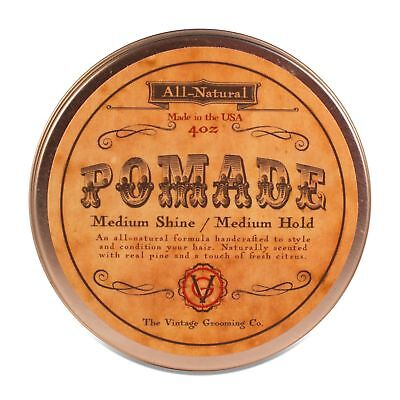 Vintage Hair Pomade - All Natural - Medium Hold (4 oz)