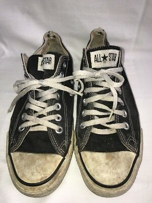Vintage Converse Chuck Taylor Made In USA Low Top Black Canvas Men's Size 9