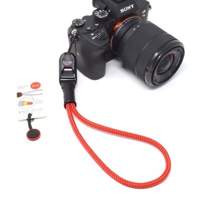 Peak Design Anchor AL3 Rope Red Cord Leather Camera Wrist Strap, Cordweaver