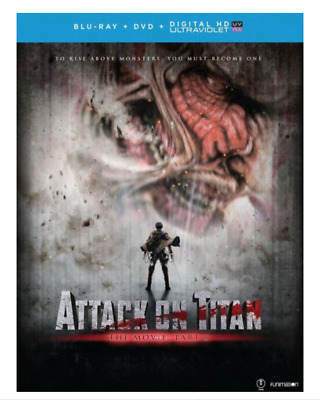 Attack on Titan The Movie: Part 1 (Blu-ray/DVD, 2016, 2-Disc Set) Brand New