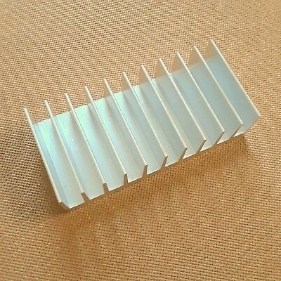 4 inch Heat Sink Aluminum (2.0 x 4.23 x 1.05) inches. Low Thermal Resistance.