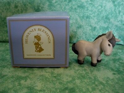 Vintage Heavenly Blessings Nativity Collection~1986~Donkey~Mint~Iob