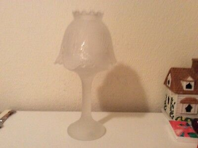 Partylite CLAIRMONT LAMP Frosted Candle Holder P0373 - New inbox