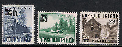 Norfolk Island 1960 Types Of 1953 Surcharged