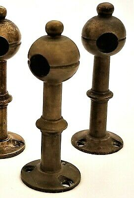 "Part - gallery POST, solid brass turning, RJ Horner, NYC, c1890, 3"", desk"