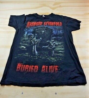 Avenged Sevenfold Men's Size M Medium Buried Alive Graphic T-Shirt Black