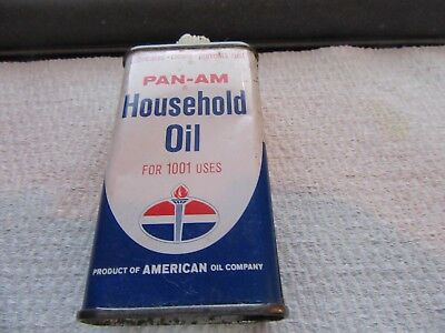 Vintage American Oil Amoco Pan-Am Airline Household Oil Can 4 Oz Oiler