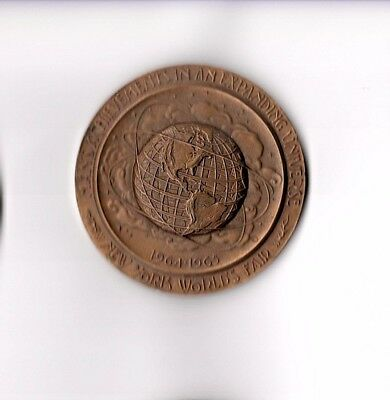 Bronze Medallion of the New York World's Fair 1965 / NYC 300th Anniversary