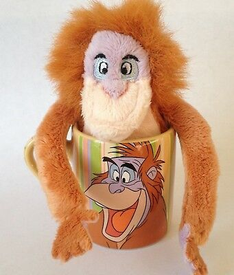 Disney Store Jungle Book King Louis Mini Mug & Plushie .