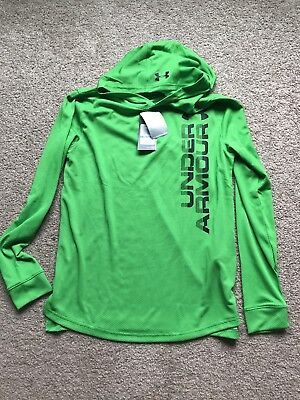 Under Armour  BOY'S GREEN GARCONS CHICOS HOODIE LOOSE SIZE : YXL/JTG ($34.99)