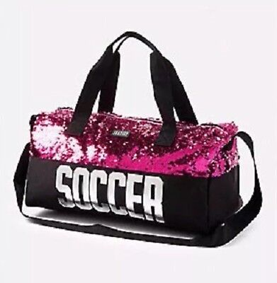 Justice Girl's Soccer Flip Sequin Duffle Bag NWT