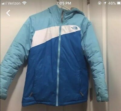 girls north face coat xl