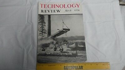 Technology Review Mag March 1954 Published from MIT Engineering  / Projects