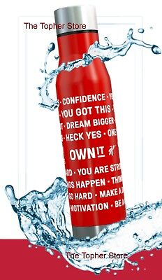 Kellogg's Special K Own It Motivational Stainless Steel Water Bottle ENGLISH NEW